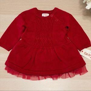 Cat & Jack Infant Girls 2pc Holiday Sweater Dress